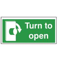 Picture of Turn To Open Right Sign