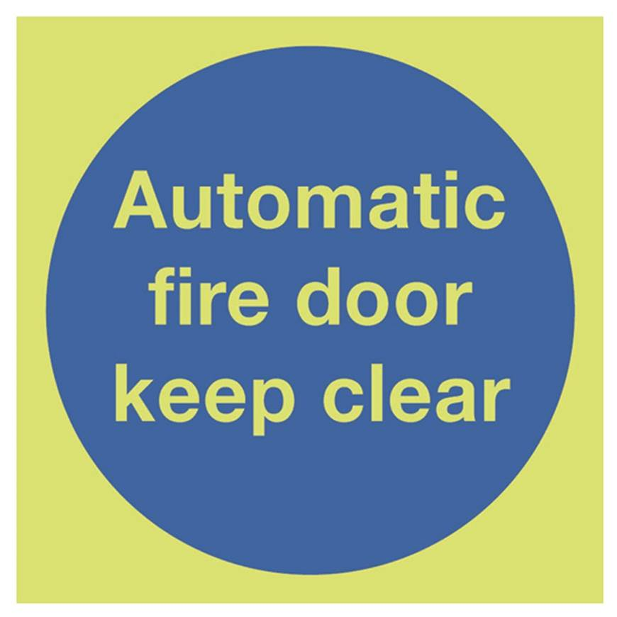Picture of Photoluminescent Automatic Fire Door Keep Clear Sign