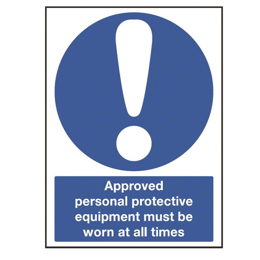 Picture of Approved Personal Protective Equipment Must Be Worn Sign