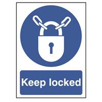 Picture of Keep Locked Sign
