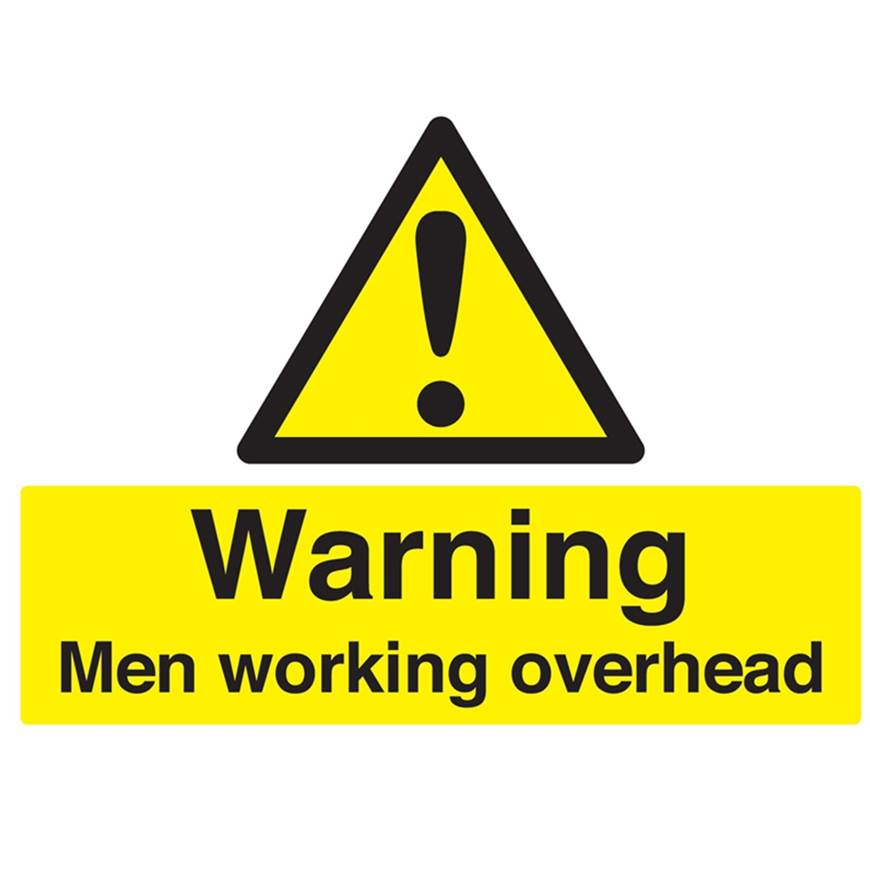 Picture of Warning Men Working Overhead Sign