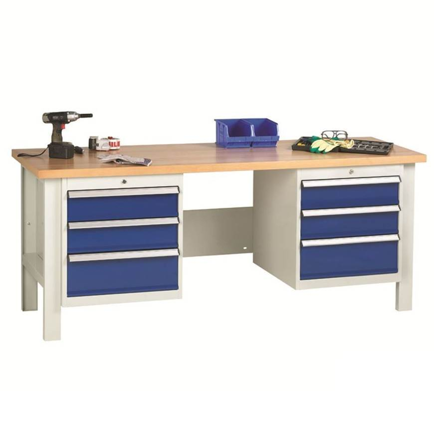 Picture of Heavy Duty Workbenches with 2 x 3 Drawer Sets