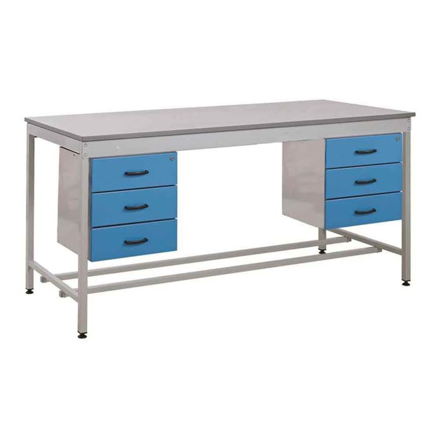 Picture of Taurus Utility Workbench with Two Triple Drawers - From Stock