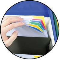 Picture of Adhesive Backed Rack Header Plates for Cascading Document Display Racks