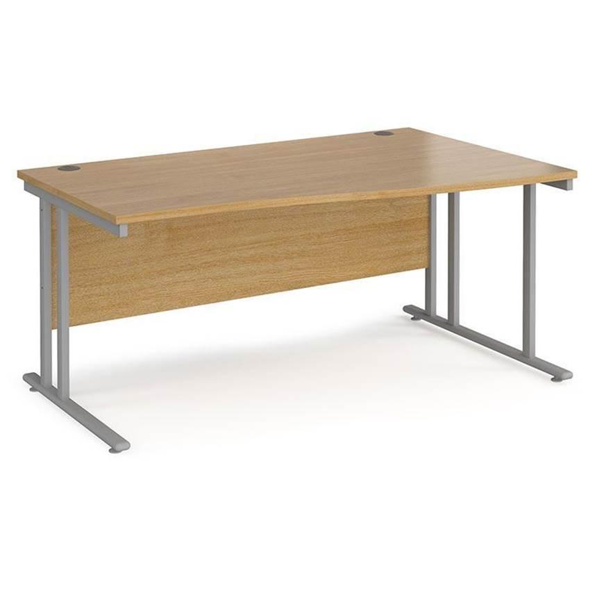 Picture of Maestro Desking - Wave Desk - Oak Worktop